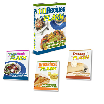 Product picture 101 Recipes in a Flash + 3-Bonuses! + Resale Rights!